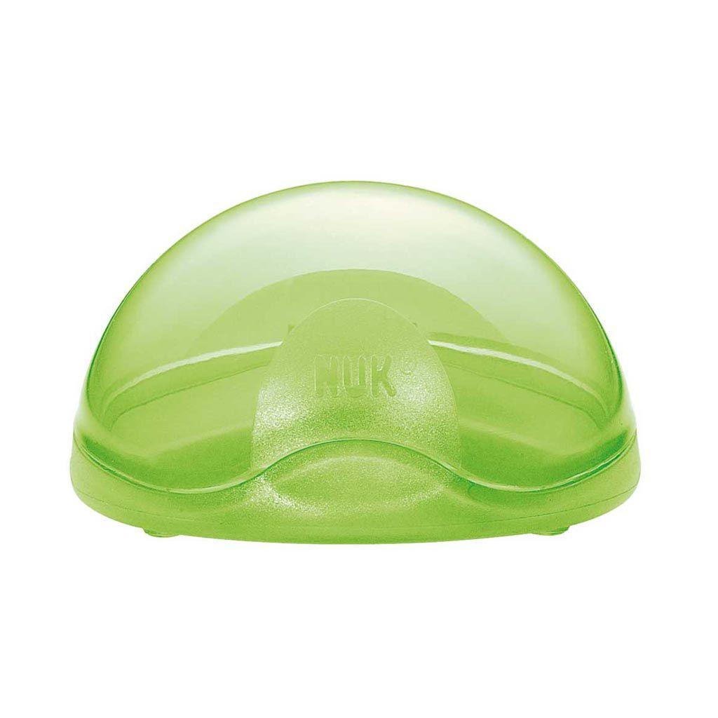 Box protector chupete verde. Nuk