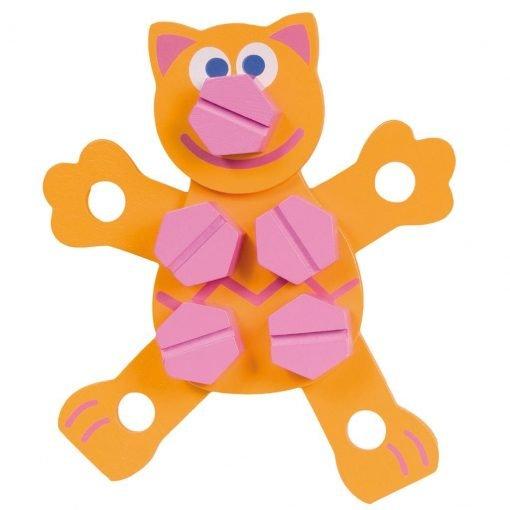 figuras armables animales boikido naranja