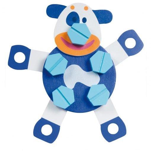 figuras armables animales boikido azul