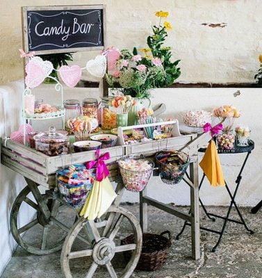 candy bar babyshower