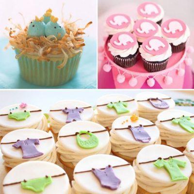cupcakes decorados babyshower