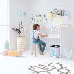 Pack escritorio y silla blanca micuna