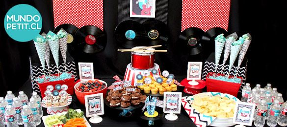 baby-shower estilo rock