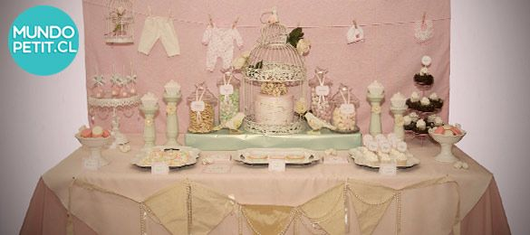 baby shower estilo vintage