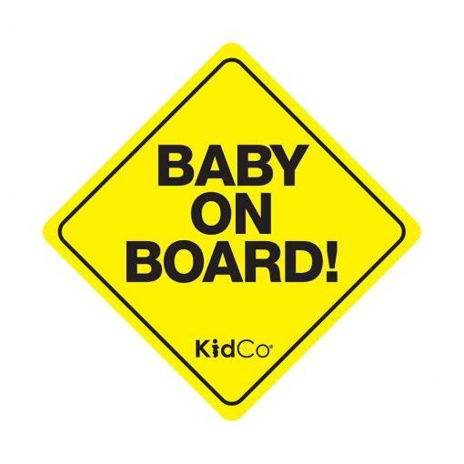 """Señalética para auto """"Baby on board"""". Kidco"""