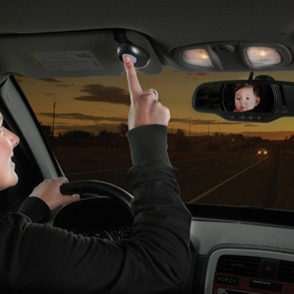 Espejo de seguridad para beb luz led diono for Espejo para mirar bebe auto