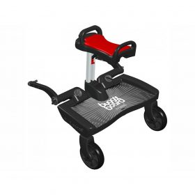 Buggyboard Maxi negro / asiento Saddle rojo