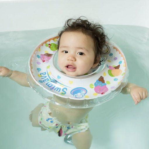 Aro flotador de cuello + pañal de agua Ice Cream Swimava