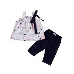 """Set bluzón + calzas """"corazones"""" Little Foot. Ropa para bebés con estilo"""