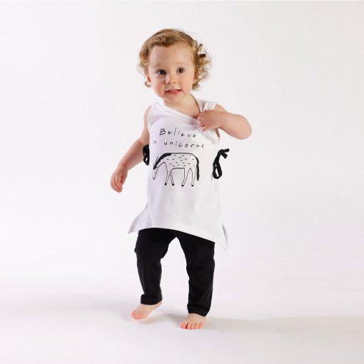 """Set polera + calza """"unicornio"""". Little Foot. Ropa para bebés con estilo"""