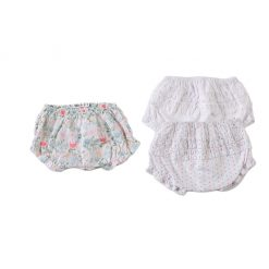 """Set tres piezas calzones """"rosados"""". Little Foot. Ropa para bebés con estilo"""