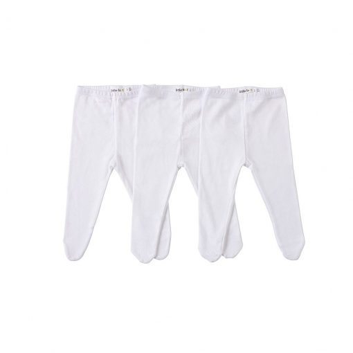 Set tres pantys blancas Little Foot. Ropa para bebés