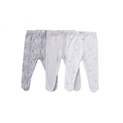 "Set tres pantys estampado ""tonos grises"". Little Foot. Ropa para bebés"