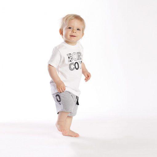 "Set polera + short algodón ""Born Cool"" Little Foot. Ropa para bebés con estilo"