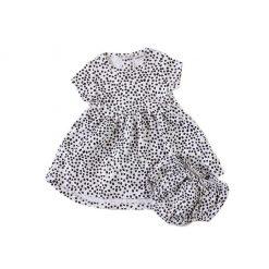 "Set vestido + calzón ""puntos"" Little Foot. Ropa para bebés con estilo"