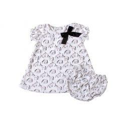 """Set vestido + calzón """"unicornios"""" Little Foot. Ropa para bebés con estilo"""