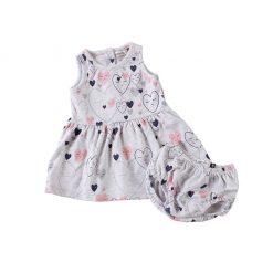 "Set vestido + calzón ""corazón"" Little Foot. Ropa para bebés con estilo"
