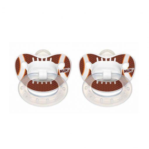 Dos chupetes diseño sports ortodóntico NUK