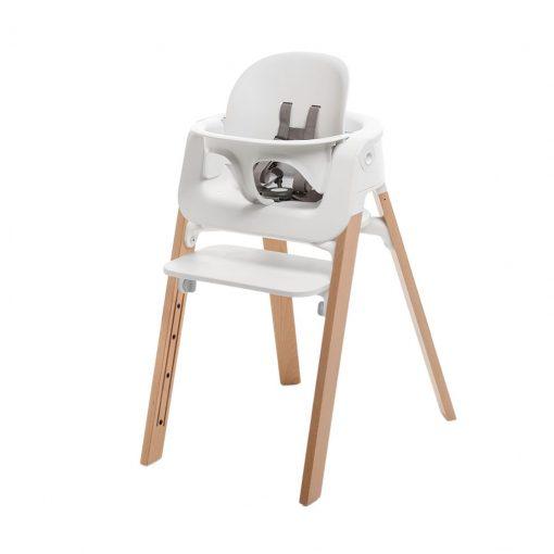 Pack silla steps blanco/natural Stokke