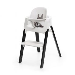 Pack silla steps blanco/roble negro Stokke