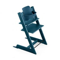 Pack silla tripp trapp trona azul de Stokke