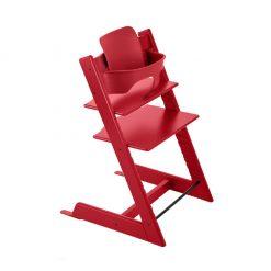 Pack silla trona tripp trapp roja de Stokke
