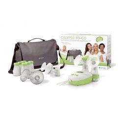 Sacaleches eléctrico doble con bolso de lactancia y accesorios Ardo
