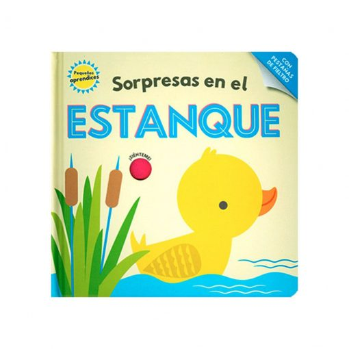 Libro infantil Pequeños aprendices - sorpresas en el estanque