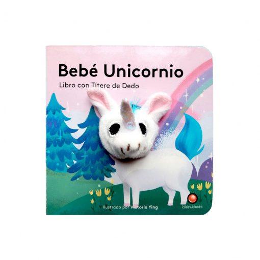 Libro con titere de dedo - bebe unicornio