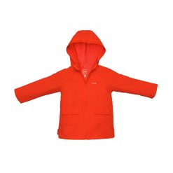 Chaqueta impermeable roja Roda