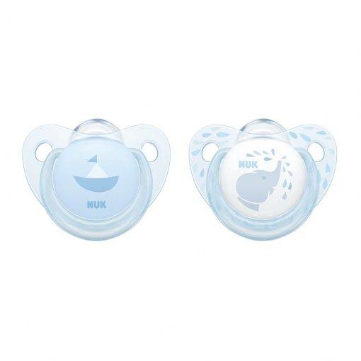 Chupetes Rose&Blue silicona etapa 1 (0-6 meses) NUK