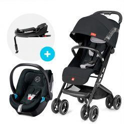 Coche travel system Qbit Plus AC N. blue + Aton 5 + base