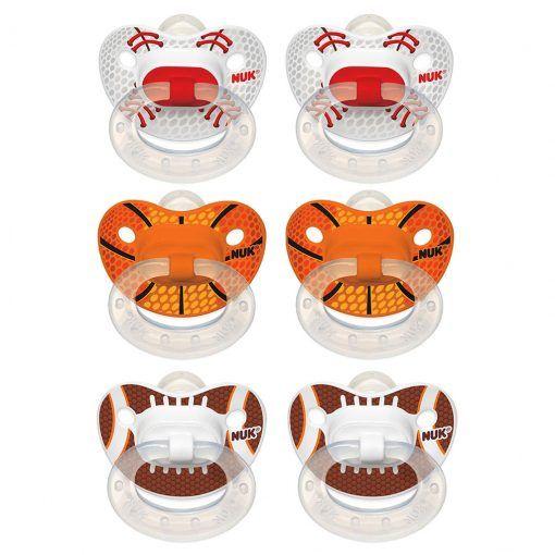Pack 6 chupetes ortodónticos silicona Sports Etapa 3 NUK