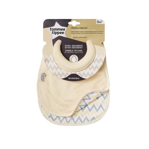 Pack 2 baberos absorbentes reversibles Tommee Tippee