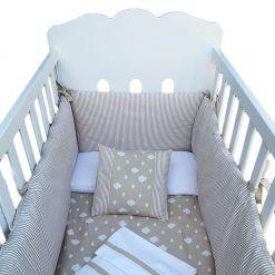Juego de sábanas, acolchados y colcha para cuna de 120 x 60 micuna