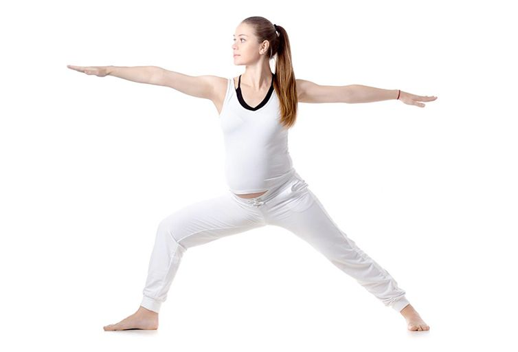 yoga embarazada Virabhadrasana 2