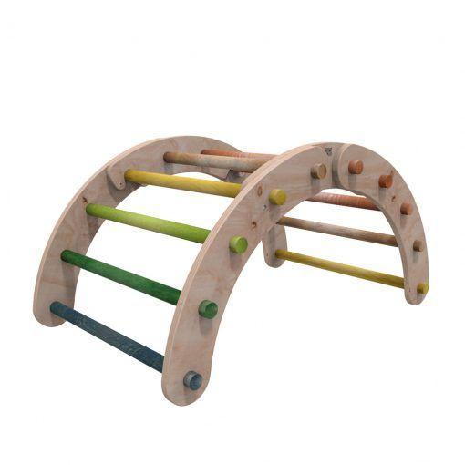 Juego de madera arco de escalada Pikler