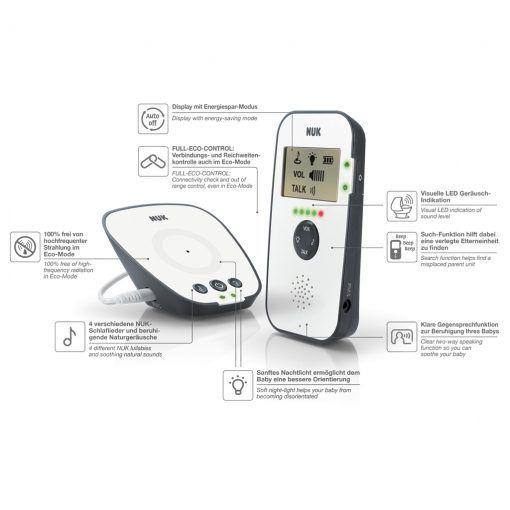 Monitor Babyphone Eco Control Audio Display 530D NUK