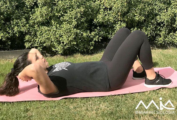 diástasis abdominal ejercicios activación piso pélvico