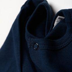 Set 2 enteritos de algodón azul petróleo y blanco de algodón Little Foot