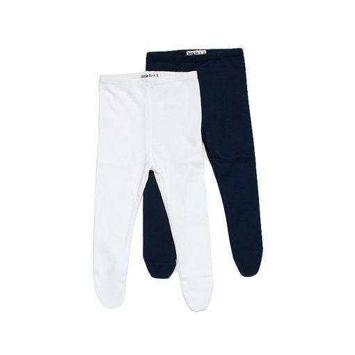 Set 2 pantys de algodón azul petróleo y blanco algodón peruano Little Foot