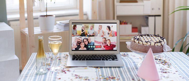 Organizando un baby shower online
