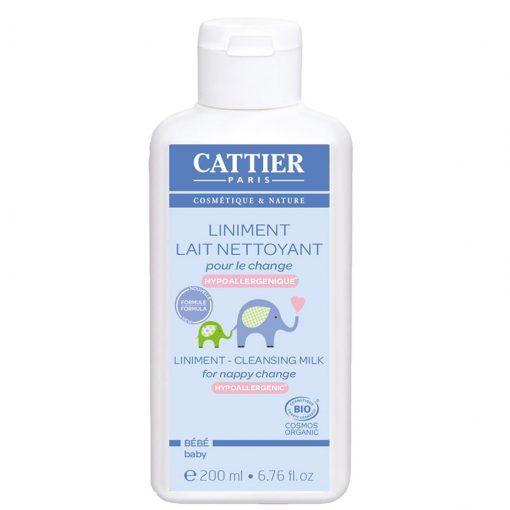 Linimento: leche protectora para el cambio de pañal Cattier