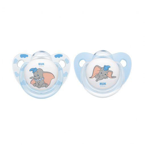 Chupetes de silicona Dumbo Etapa 1 NUK