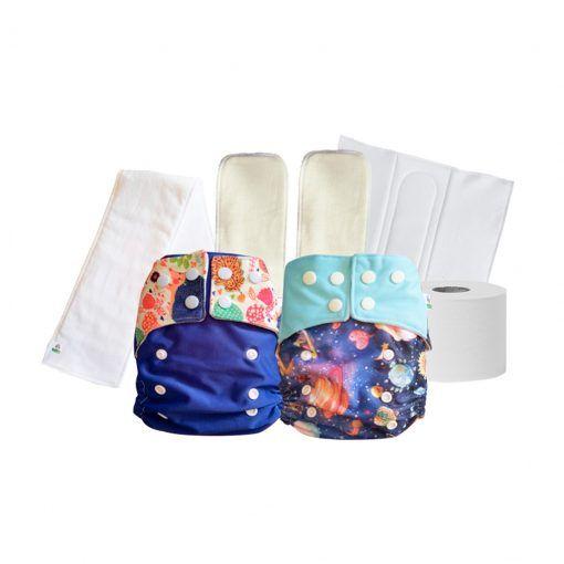 Pack 2 pañales reutilizables Nativo Pewmu